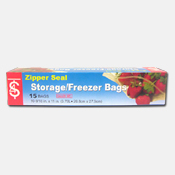 009. Zipper Seal Freezer Bags - 15 count