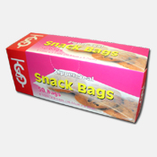 012. Zipper Seal Snack Bags - 50 count
