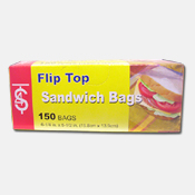 014. Flip Top Sandwich Bags - 150 count
