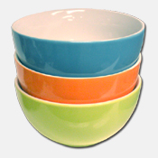034. Two Tone Ceramic Cereal Bowl