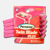 201. Women's Twin Blade Razors - 5pk