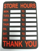 270. Store Hours Sign