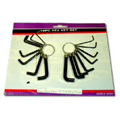 019. Hex Key Set - 16pc