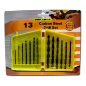 052. Carbon Steel Drill Bit Set - 13pc