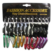 040. Key Ring Clip w/ Compass - Assorted
