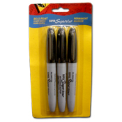 016. Permanent Markers - 3pc black