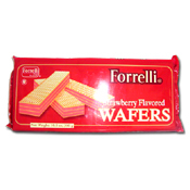 027. Forrelli Strawberry Wafers - 10.5 oz.