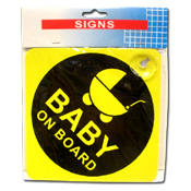 "021. ""Baby On Board"" Window Sign"