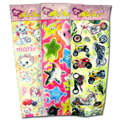 022. 3D Stickers - Assorted