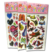 023. Puffy Stickers - Assorted