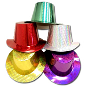 033. Holographic Party Hats - Assorted