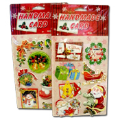 049. 3D Christmas Stickers - Assorted