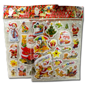 051. Puffy Christmas Stickers - Assorted