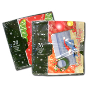 050. Christmas Cards - 20pc Assorted
