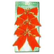 055. Small Christmas Bows - 3pc