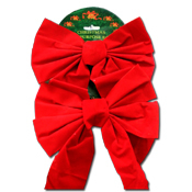 060. Christmas Bows - 2pc